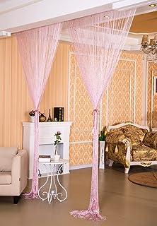 Liqy Rideaux Voilage 90x200 Curtain Rideau De Porte Moustiquaire Top