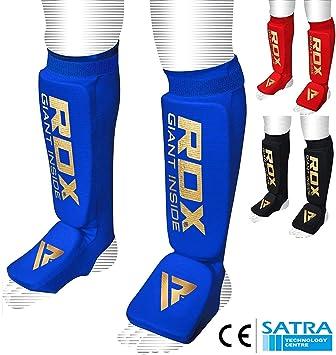 RDX Schienbeinschoner Leder Boxen Schienbeinschutz Schienbein Muay Thai Kampfsport Beinsch/ützer Kickboxen Schienbeinsch/ützer CE Zertifizierte Genehmigt Durch SATRA