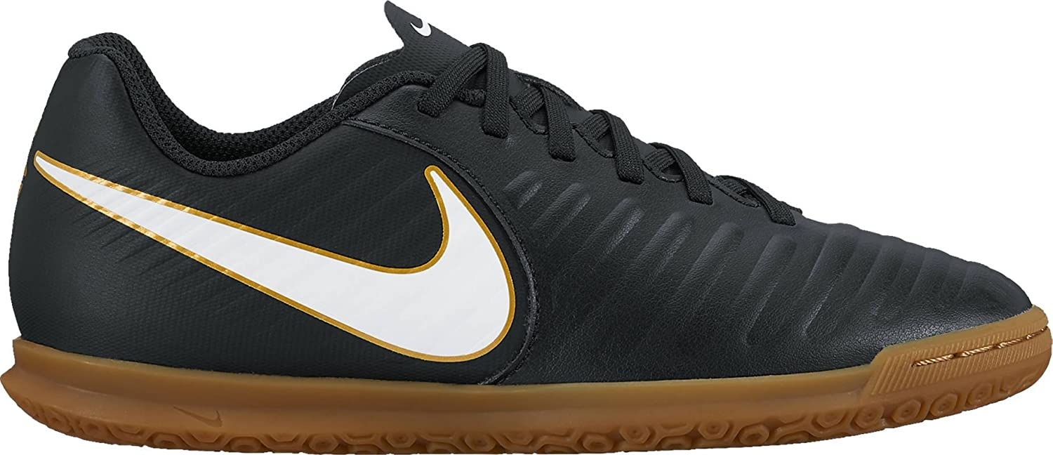 NIKE Kids Jr Tiempox Rio IV (IC) Indoor Soccer Shoe B07457KSD5 10C|Black/White-black