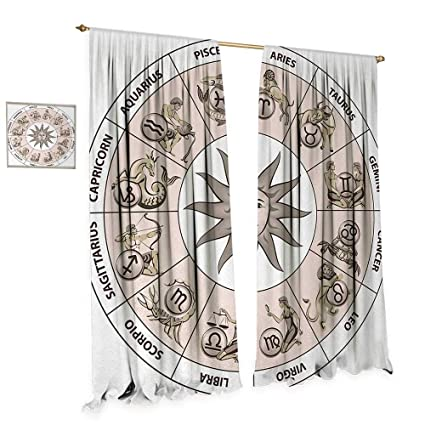 amazon com anniutwo astrology room darkening wide curtains wheel rh amazon com