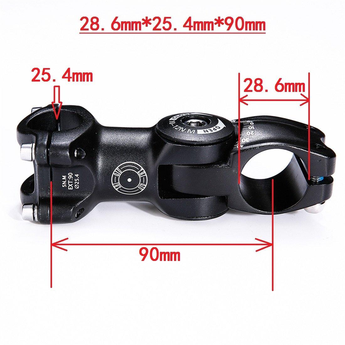 ZHIQIU 0-80 Degree 90mm 110mm Increase Adustable Stem Bike Fork Extender Bicycle Handlebar Rise Clamp Adaptor MTB Road Fixed Gear Aluminium Alloy Head Up Adapter Flexible