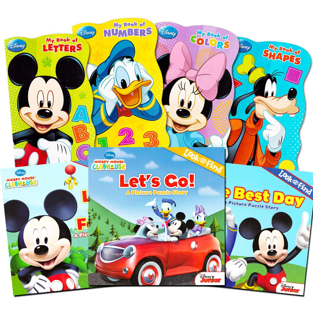 Mickey Mouse Clubhouse Ultimate Books Set For Kids Toddlers -- Pack of 7 Books (4 Board Books, 3 Soft Cover Books)