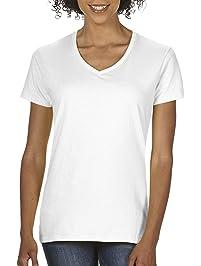 GILDAN Womens Heavy Cotton V-Neck T-Shirt, 2-Pack T-Shirt