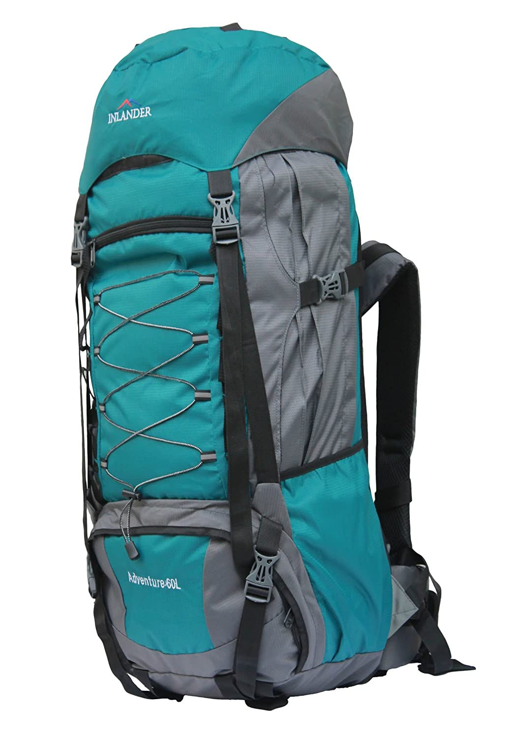 d8a98ee814c9b INLANDER 6001 Teal Blue 60L Rucksack Daypack Backpack Bag for Travel Hiking  Trekking   Camping for Men   Women  Amazon.in  Bags