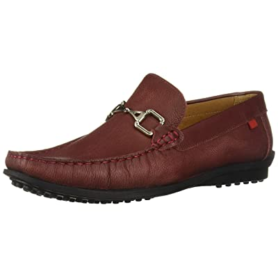 MARC JOSEPH NEW YORK Mens Grainy Leather Carneige Hill Buckle Loafer, Wine, 11 M US | Loafers & Slip-Ons
