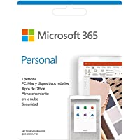 Microsoft 365 Personal | Suscripción anual o mensual | Para 1 PC o Mac, 1 tableta incluyendo iPad, Android, o Windows…