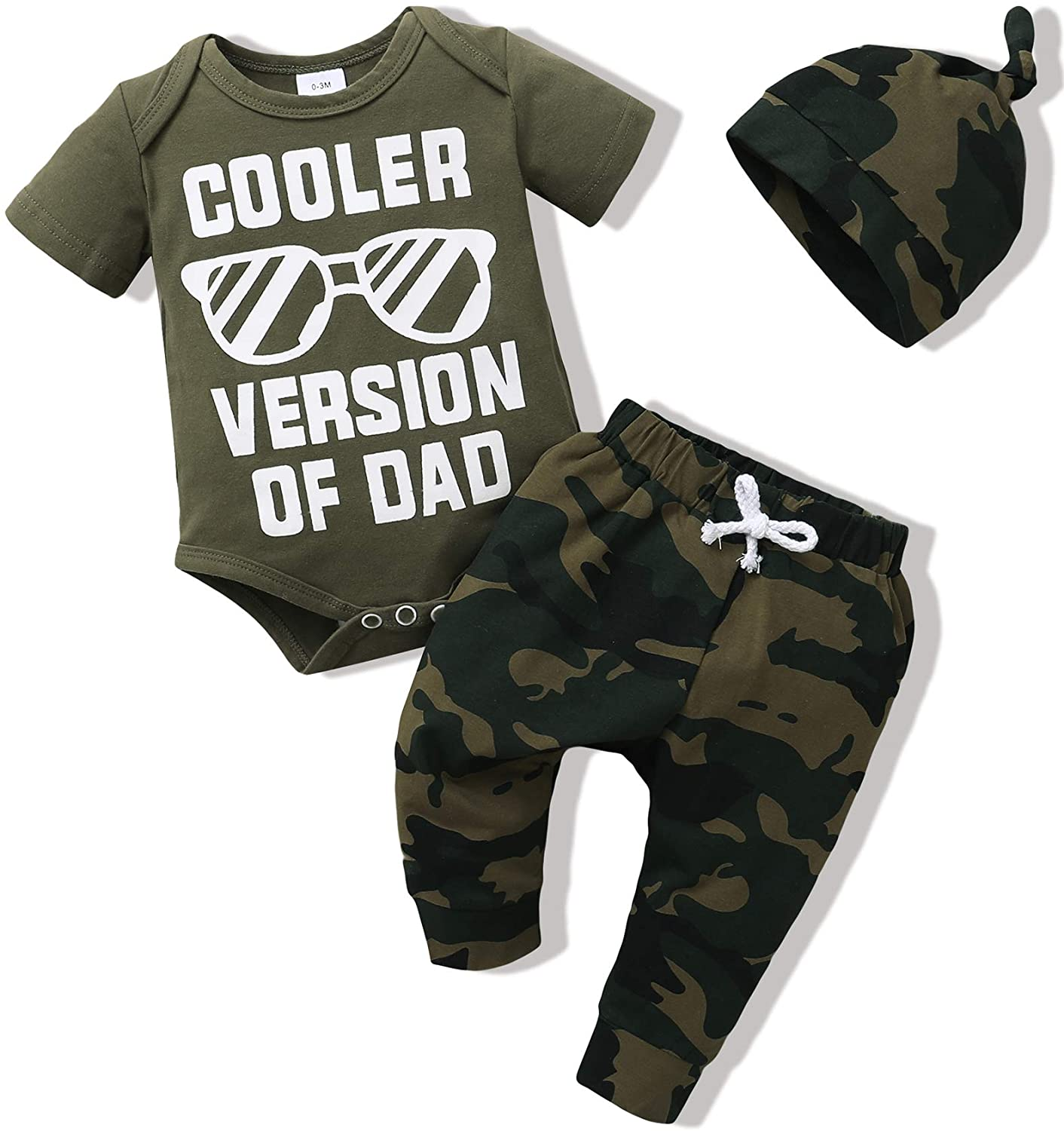 Baby Boy Clothes Toddler Boy Outfit Letter Print Short Sleeve Romper+Long Pants+Hat 3PC Gift Newborn Clothing Set