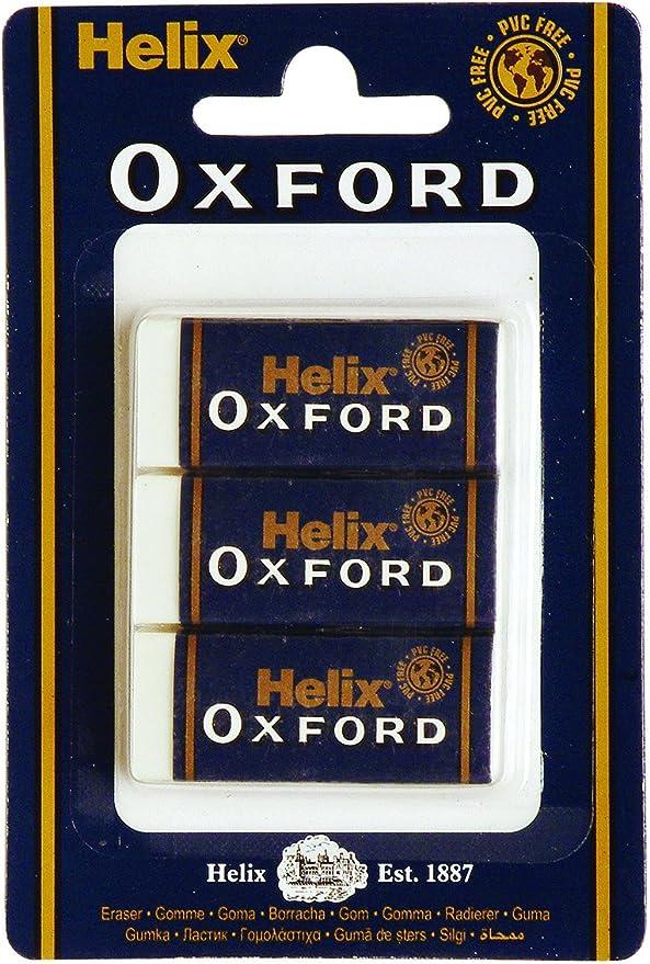 Helix Oxford Large Sleeved Eraser Pack of 3