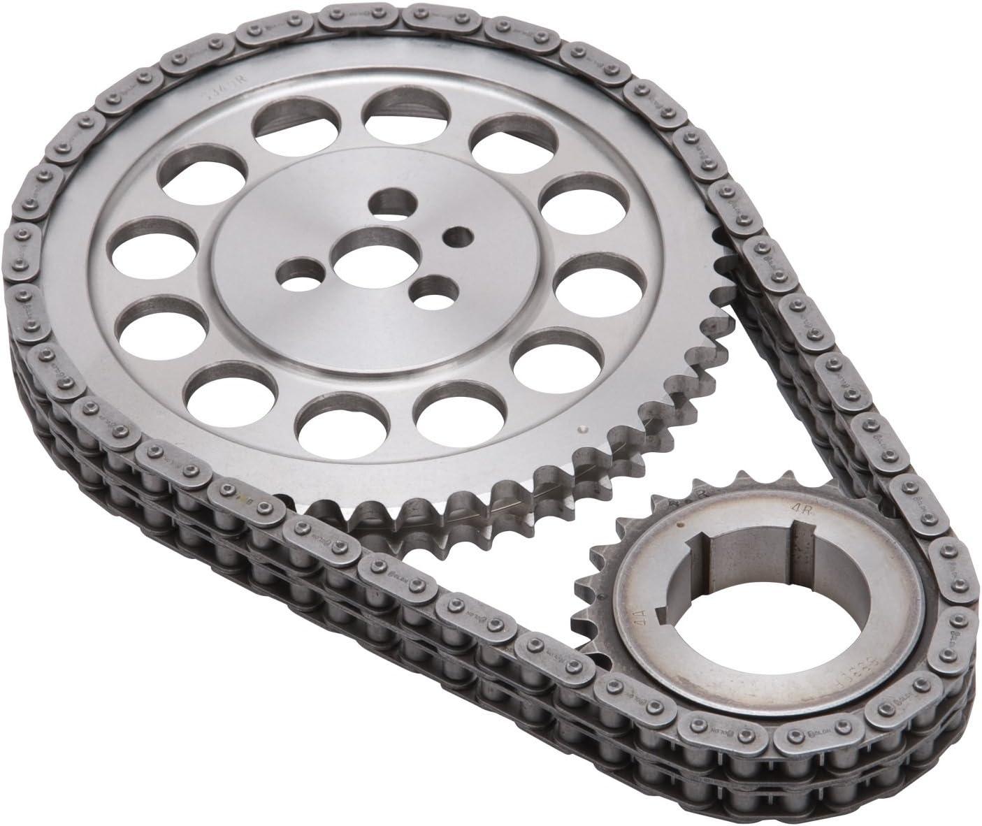 Edelbrock 7805 Performer-Link Timing Chain Set Incl Cam//Crank Sprocket//Chain 3 Bolt Performer-Link Timing Chain Set