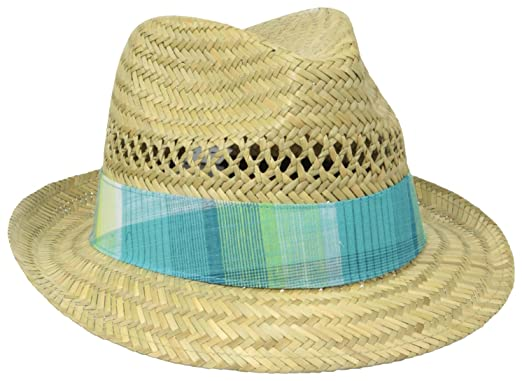 049ce6c8383a73 Columbia Sun Drifter Women's Straw Hat, Natural/Geyser Plaid One Size