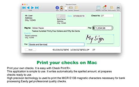 .com: check print'r+ : check printing software for mac. with ...
