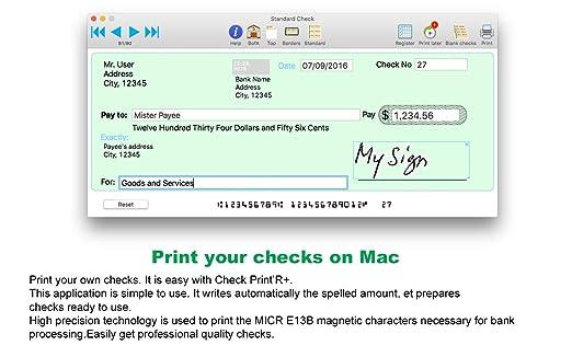 Amazon.com: Check Print'R+ : Check Printing software from Mac ...