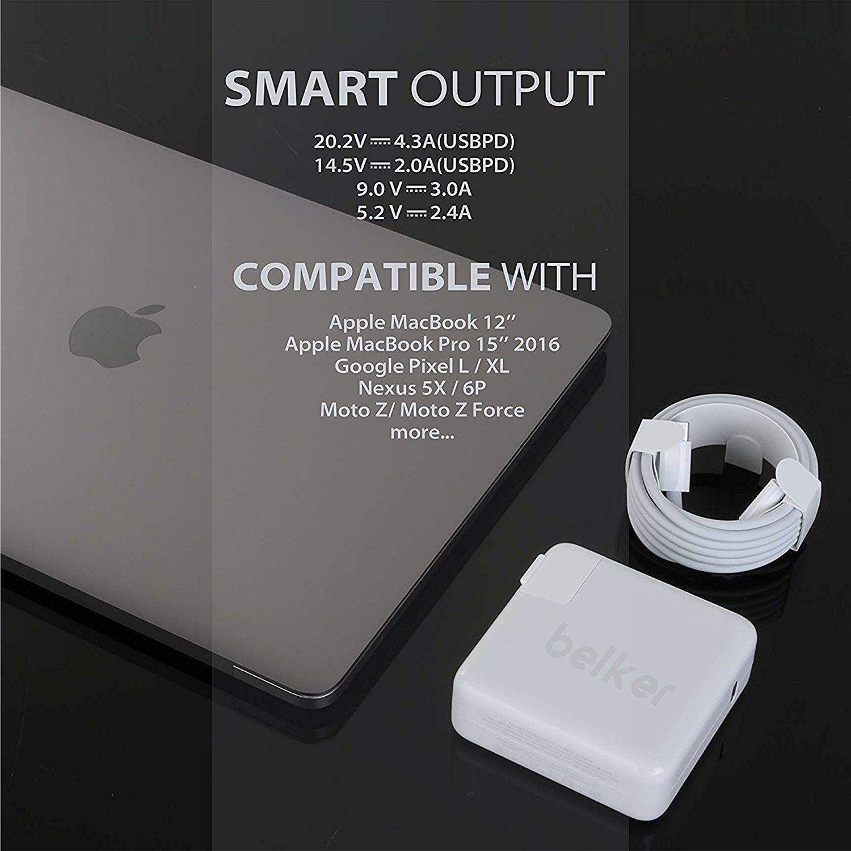 Amazoncom Belker 87W Macbook Charger for Apple