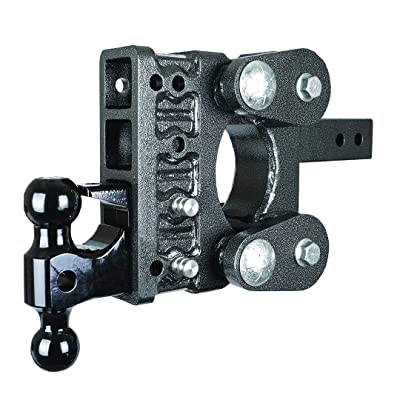 "Drop Hitch GENY GH-1124 Torsion Suspension Hitch 2.5"" Receiver Class V 16K Towing Hitch GH 1124, Combo Includes Dual Ball, Pintle Lock & 2 Hitch pins (5"" Drop 2.5"" Receiver): Automotive"
