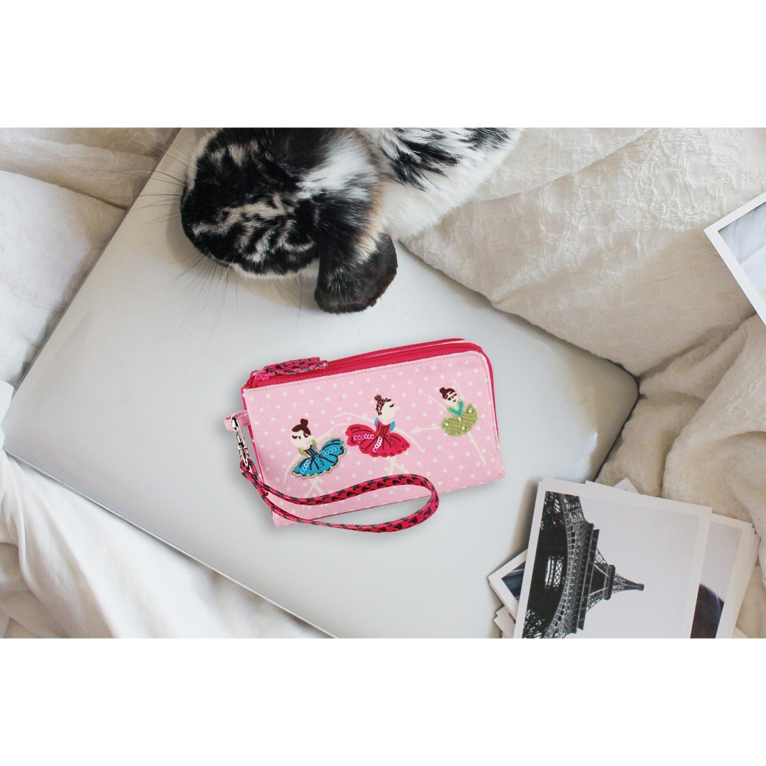 Wristlet removable clutch travel bag purse money pouch wallet organizer by Pinaken (Image #2)