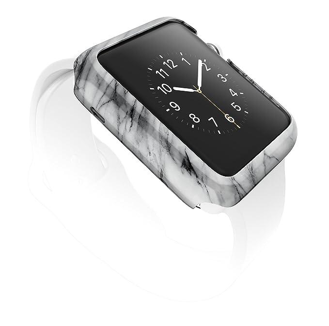 low priced 3b667 65538 X-Doria 38mm Apple Watch Bumper Case (Revel Bumper) Fashion Case -  Compatible with Apple Watch Series 1, Series 2, Series 3 and Nike+ [Marble]