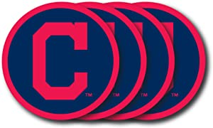 MLB Cleveland Indians Vinyl Coaster Set (Pack of 4)