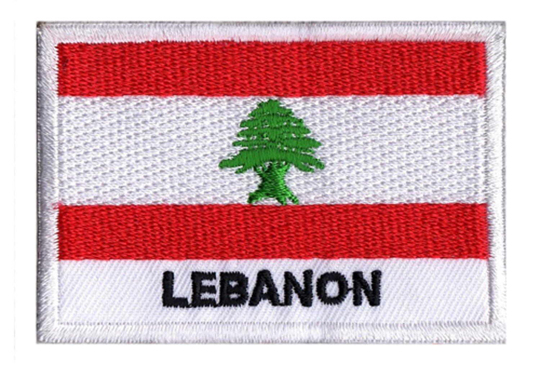 NagaPatches Parche con la bandera del L/íbano