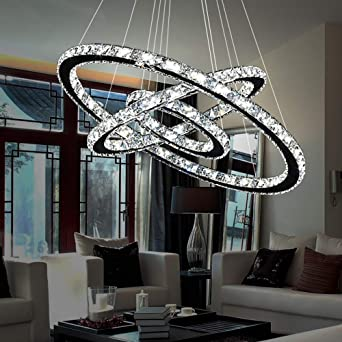 LED Decken DESIGN Lampe Chrom Kronleuchter Leuchte Beleuchtung Wohn Zimmer Küche