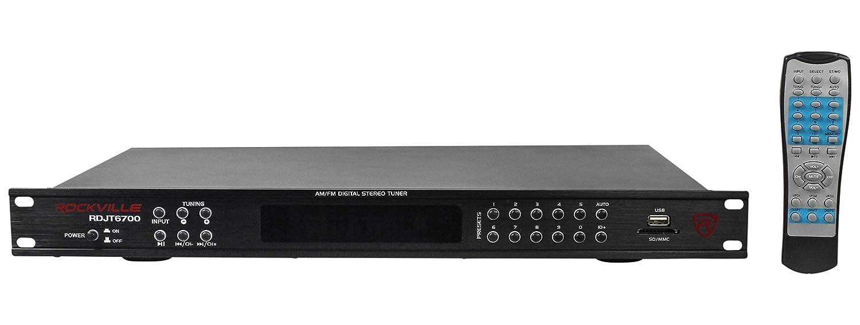 Com Rockville Rdjt6700 Rack Mount Digital Am Fm Radio Tuner Receiver With Usb Sd 19 Musical Instruments