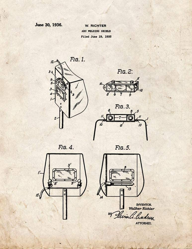 welding shield diagram amazon com arc welding shield patent print  5  x 7   m15736  amazon com arc welding shield patent