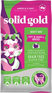 Solid Gold - Mighty Mini with Sensitive Stomach Probiotic Support - Grain-Free Holistic Dry Dog Food for Toy And Small Breed of All Life Stages