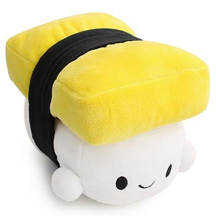 Missley Comida Japonesa Almohada Sushi Cute Cojín Plush Toy almohada encantadora Para Dormir Decoración (amarillo