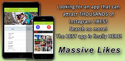 Massive Likes - Get tons of real likes and followers on Instagram all at  once!