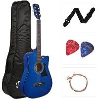 JUAREZ JRZ38C Right Handed Acoustic Guitar (Blue, 6 Strings)