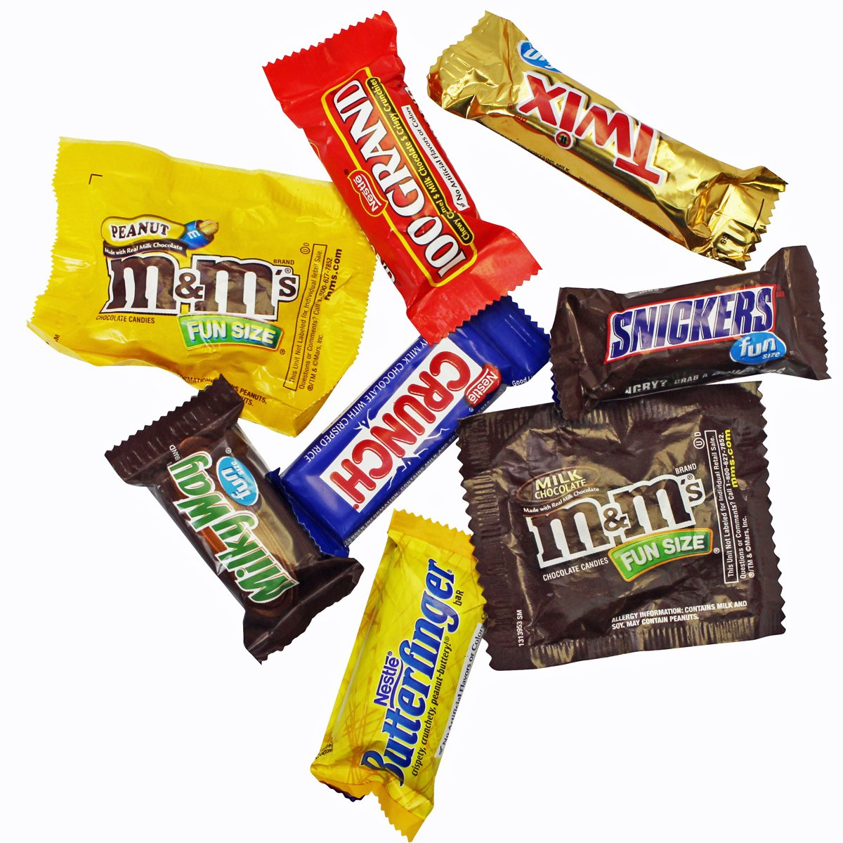 Chocolate Variety Pack - Fun Size Candy - All Your Favorite Chocolate Bars Including M&M, Snickers, Twix and More In 6x6x6 Bulk Box, 3.2 LB by A Great Surprise (Image #3)