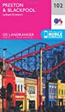 ORDNANCE SURVEY Landranger 102 Preston & Blackpool, Lytham Map With Digital Version