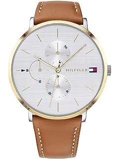 Tommy Hilfiger Reloj Multiesfera para Mujer de Cuarzo con Correa en Cuero 1781947