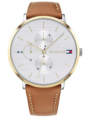 Tommy Hilfiger Reloj Multiesfera para Mujer de Cuarzo con Correa en Cuero 1781947: Amazon.es: Relojes