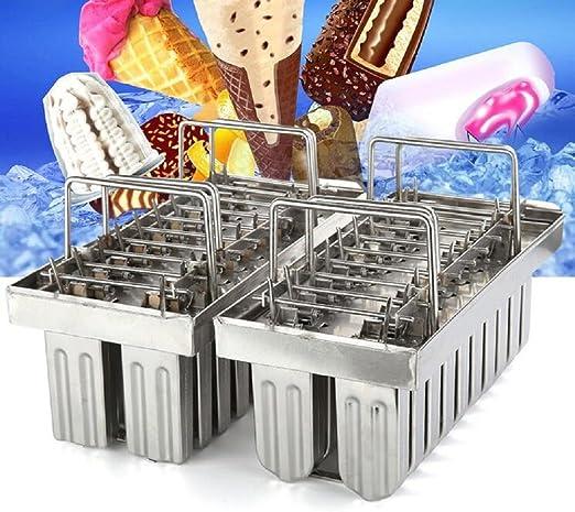 E 20pcs Stainless Steel Molds for Popsicles Maker Ice Lolly Ice Cream Pops Bars Stick Holder