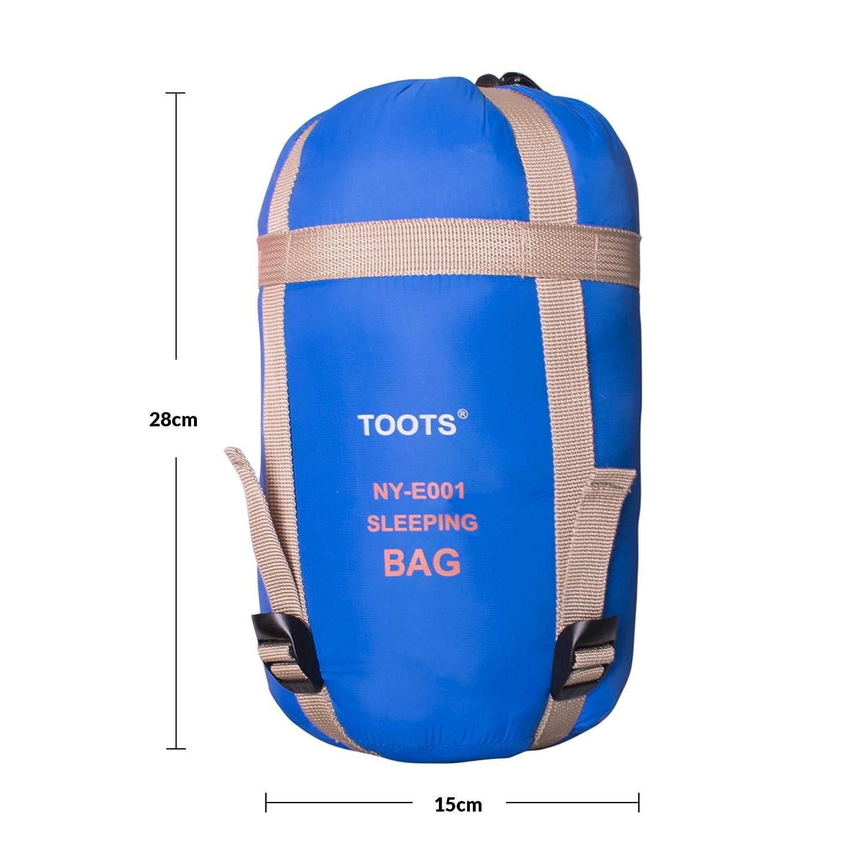 Toots Compacto Saco de Dormir Blue Para 8-15 Grados Primavera Verano y Oto/ño Camping Al Aire Libre Impermeable y Ultraligero