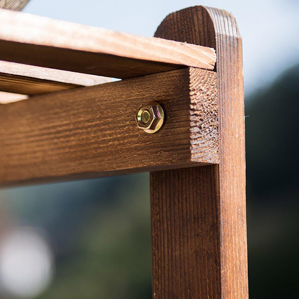 Conservador de madera estante de flores piso de madera maciza escalera de balcón cubierta de flores planta de piso sala de estar carnoso multi-layer ...