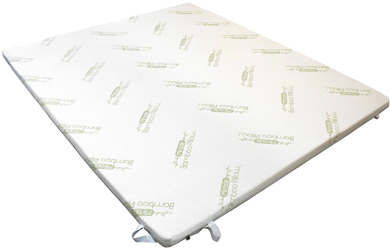 Surmatelas à mémoire de forme - Anti-allergique - Fibre de bambou - 160x200 cm