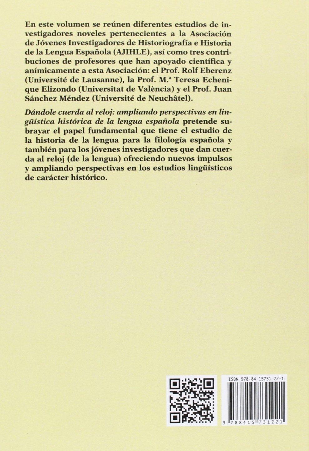 Dandole cuerda al reloj: Vicente Álvarez Vives: 9788415731221: Amazon.com: Books