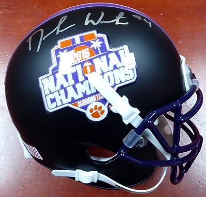 DeShaun Watson Autographed Clemson Tigers Matte Black National Champs Logo  Mini Helmet Beckett BAS bff156cc6