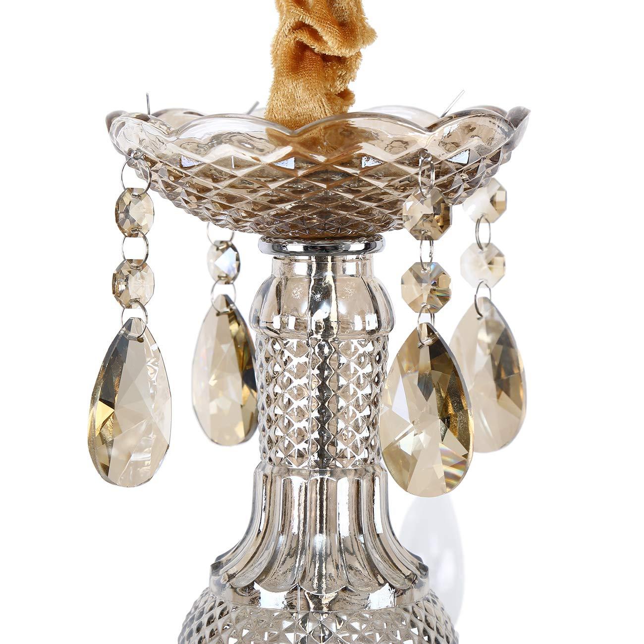 TryESeller 10 braccio Lampadario K9 cristallo Plafoniera E12 Pendente Lampada Cognac Colore per Soggiorno Camera da letto Ingresso