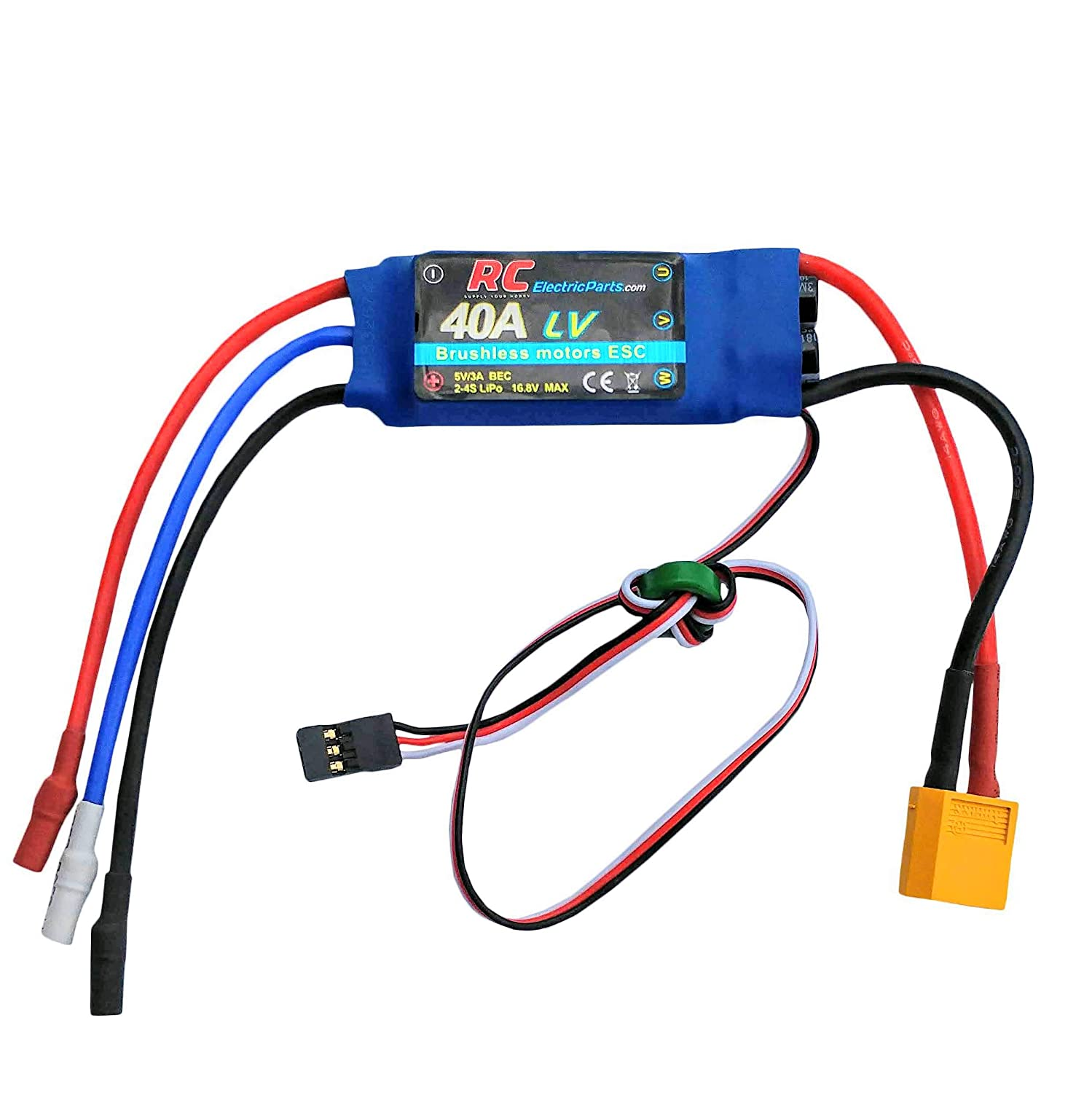 40a Rc Brushless Motor Electric Speed Controller Esc 3a Diy Electronic Homemade For Ubec With Xt60 35mm Bullet Plugs Toys Games
