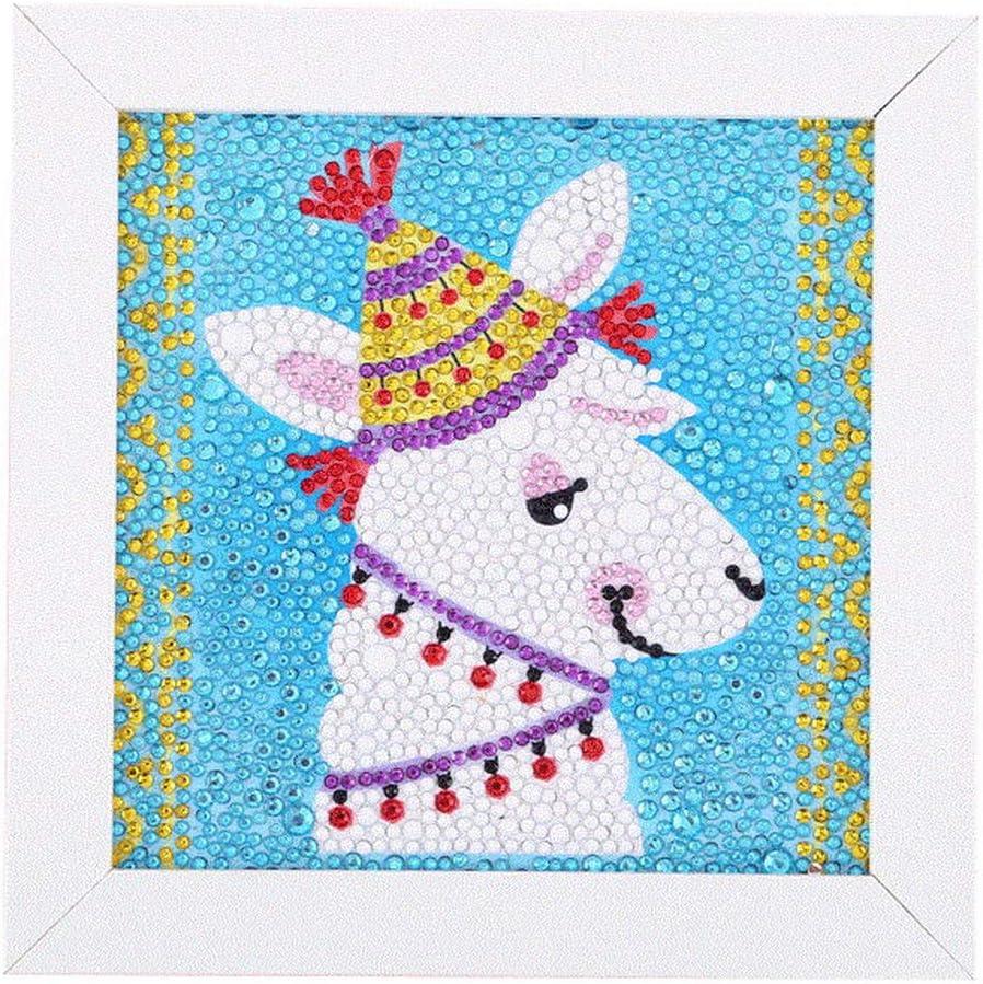 Ukerdo Alpaca Pictures DIY Diamond Painting by Number Kits Kids Child Handwork Toy Gift Desktop Decoration