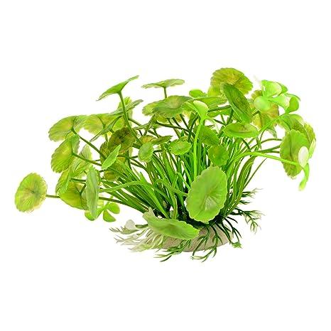 Saim verde artificial flotante acuario plantas de plástico Hierba Agua Planta Decoración para Tanque De Peces
