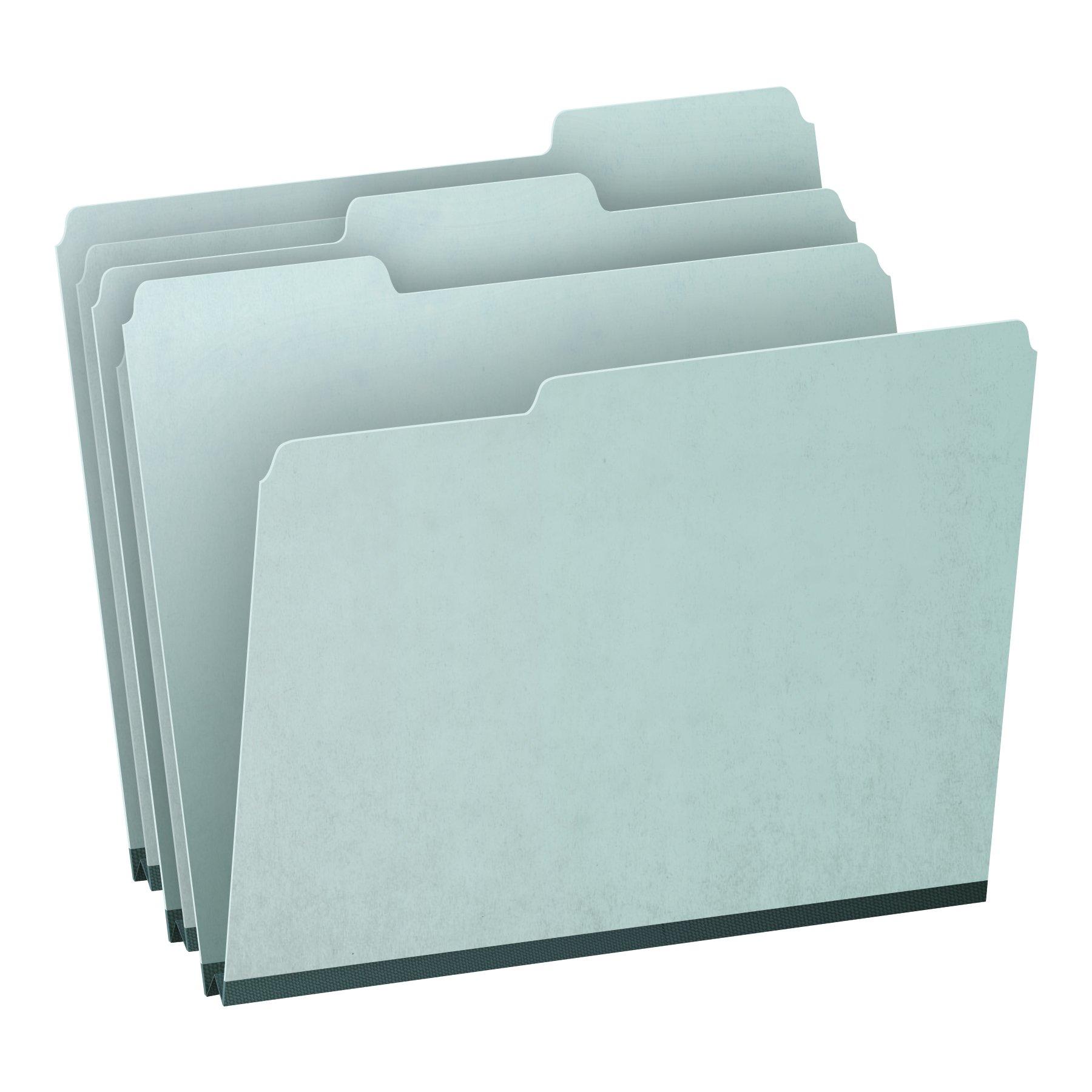 Pendaflex 1'' Expansion Pressboard File Folders with 1/3 Cut Tab, Letter, Blue, 25/Box (9200T 1/3)