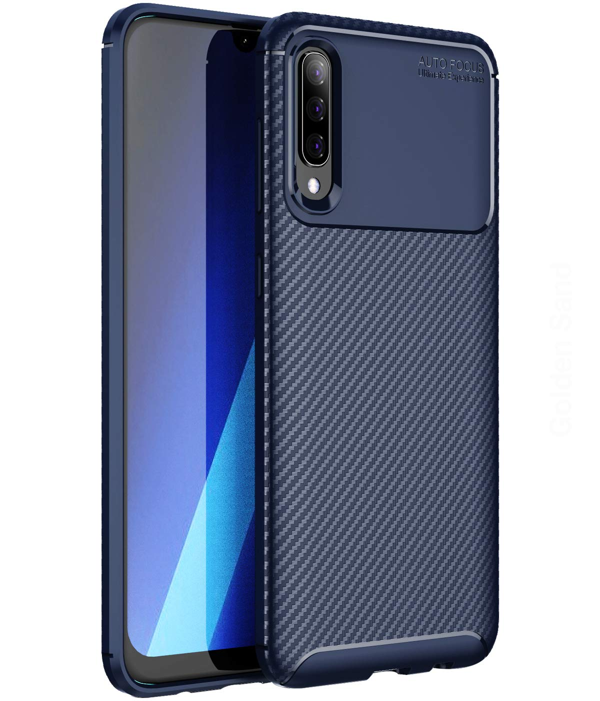 metà fuori 41f0b 37cb1 Golden Sand for Samsung Galaxy A50 Back Cover Slim Drop Tested Aramid  Carbon Fibre Shockproof Armor TPU Case for Samsung A50 Mobile Phone Cover,  Blue