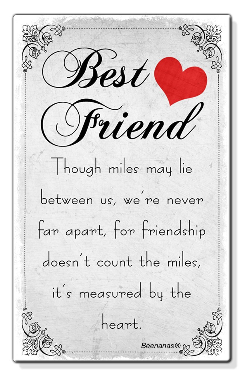 Miles Between Us Best Friend Birthday Present Gift Small Wallet – Best Friend Birthday Card