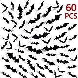 ハロウィン ウォールステッカー 3D効果 コウモリ 壁紙シール インテリア お部屋飾り雰囲気変える60枚 (60枚セット)