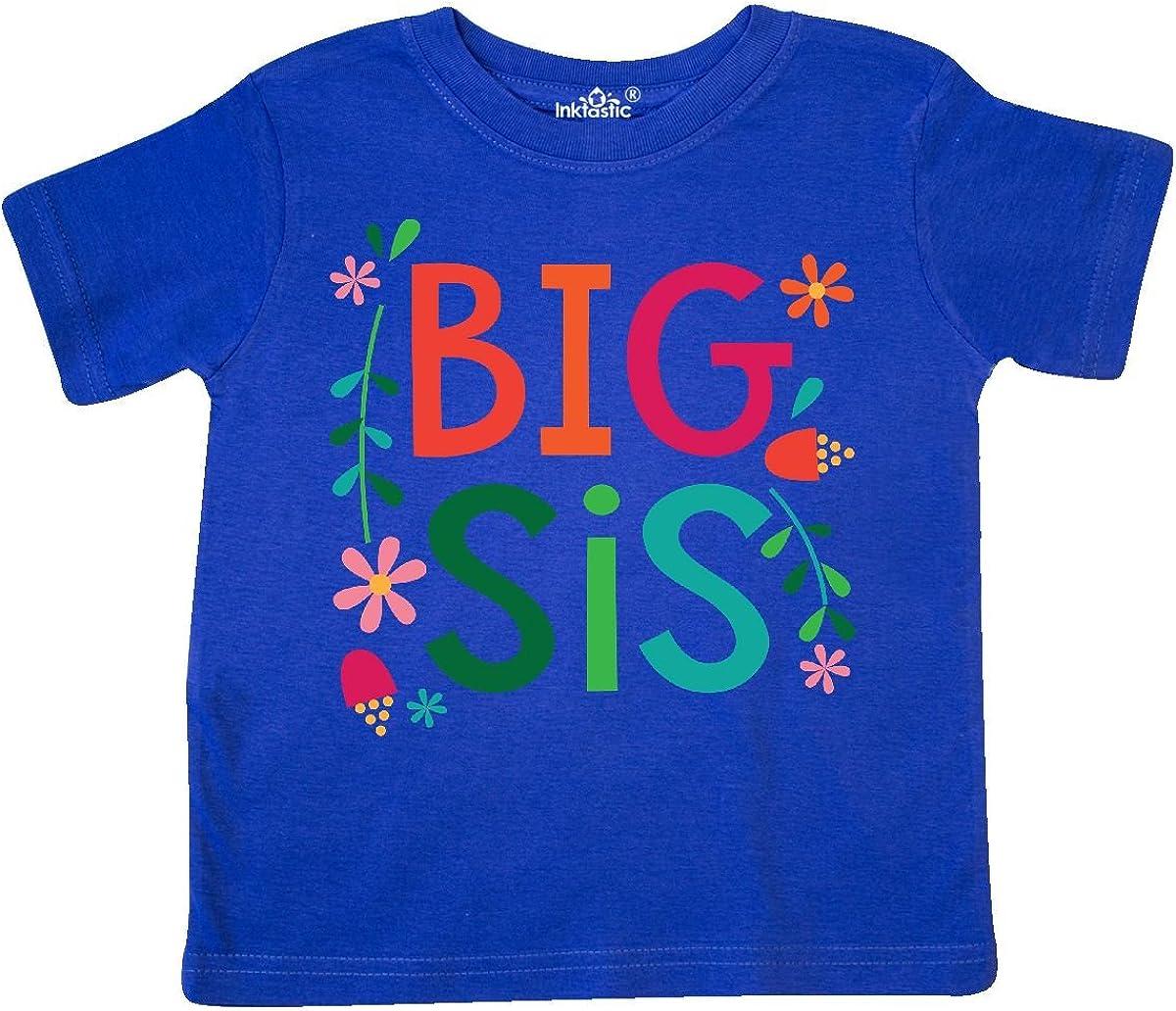 inktastic Big Sis Girls Cute Sister Announcement Gift Toddler T-Shirt