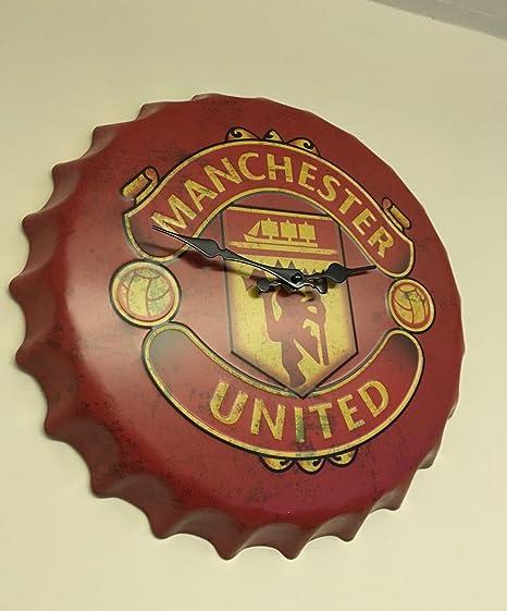 Manchester United FC Wall Clock Home Decor Man Cave Vintage Retro ...