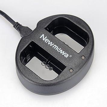 Newmowa USB Cargador Doble para Canon LP-E6, LP-E6N y Canon EOS 5DS R, EOS 5DS, EOS 5D Mark III, EOS 5D Mark II, EOS 6D, EOS 7D, EOS 7D